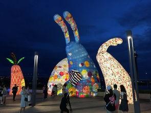 澳门国际花灯节开幕了 形形色色的玉兔灯,中秋国庆别错过
