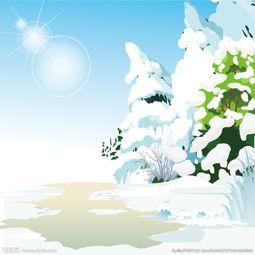 野外雪景图片