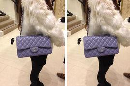 Chanel香奈儿CF Jumbo 2.55羊皮真皮女包薄荷绿色手提包特价代购