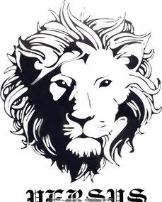 服装品牌标志-凶猛狮子头像