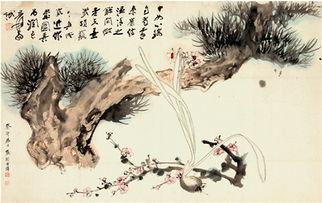 朝鲜画-大千因其才气过人,又豪爽,家藏经典古画极多,学生在大千指导下临...