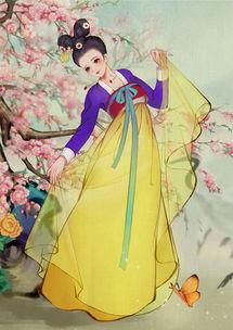 画画公主裙子美术-绘画一枚纱裙