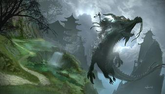 魔兽新插画 治疗武僧和死亡之翼坐骑