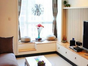 各种三室二厅二卫客厅小户型飘窗装修效果图案例欣赏-2017小户型客...