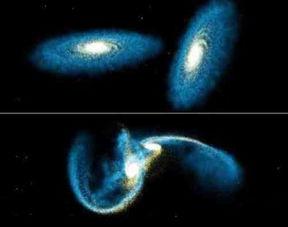 ...银河系和自己的邻居仙女星系,几百万年以来一直相互吸引,如果这...