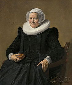 哈尔斯的 老妇人的肖像 作品