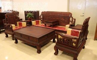 东阳沙发酸枝麒麟客厅组合明清仿古家具 红酸枝 组合