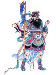 ...图片描述:财神门神节日手机壁纸图片,240x320门神年画手机图片-...