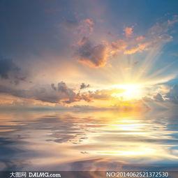 天空中的云彩阳光风景摄影高清图片