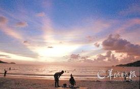 布吉岛巴东海滩日落 东方IC/供图-泰国南部开展神奇海岛之旅