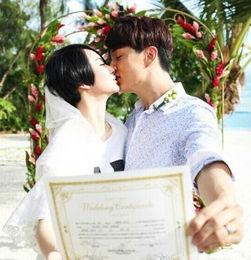 戚薇李承铉结婚照曝光 疑系奉子成婚 女方已有身孕暂保密