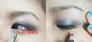 阴茎入珠真实照片-如左图所示,在下眼角1/2处涂抹珍珠白色眼影打亮眼角,放大眼睛;...