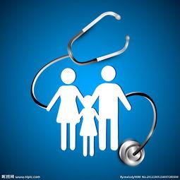 蓝色家庭医疗背景图片