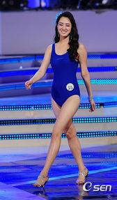 韩国小姐冠军黄金三围比例征服观众 组图