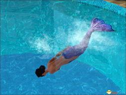 模拟人生3 人鱼海带MOD 角色变成美人鱼