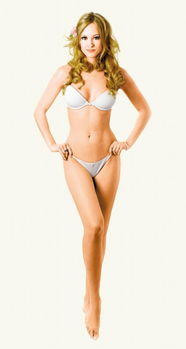 在此项研究中,女性的身体被划为6个区域:头部、胸部、腹部、阴部...