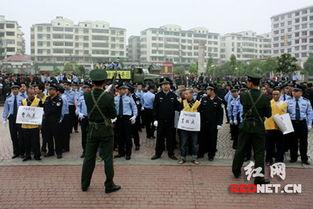 耒阳举行公捕公判大会 58名犯罪嫌疑人被宣捕