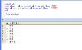 SQL查询语句SELECT中带有case when嵌套子查询判断的问题