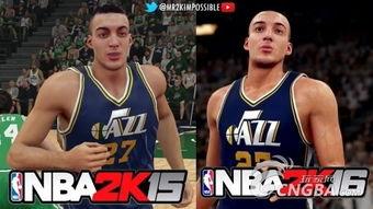 NBA 2K15 NBA 2K16 画质对比 流汗效果增强