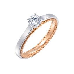 约瑟芬皇后钻戒-...18K分色黄金钻石戒指-一颗钻石,连接爱情与承诺