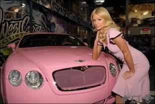 国际在线娱乐报道 美国名媛,出名的拜金女帕丽斯·希尔顿的那辆粉红...