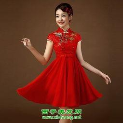 中式短发新娘发型图片 精致又唯美