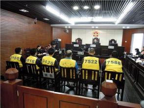 身着黄色背心,坐在被告席的日本人(自左起5人),最右为共犯台湾...