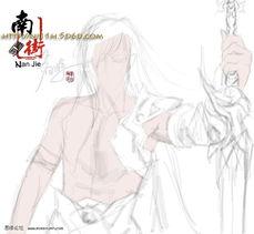...oshop鼠绘教程 绘制手拿长剑的CG少年