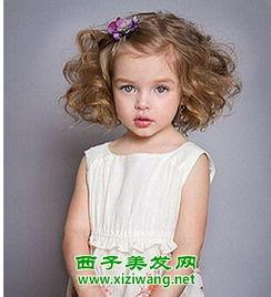...童短发发型绑扎教程图解