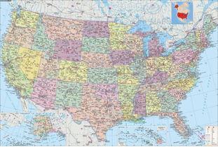 美利坚合众国欧美色图-美国地图中文版高清版大地图