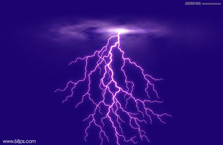 ps地裂素材-利用Photoshop云彩滤镜绘制闪电效果