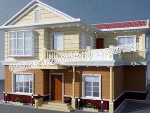 漂亮经济实用二层小洋楼最新房屋设计图