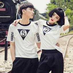 ...击这里购买>>夏季情侣装韩版短袖T恤-yi杨小妖
