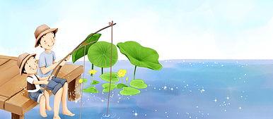 亲子背影唯美-卡通父亲节亲子活动背景图片背景素材免费下载,图片...