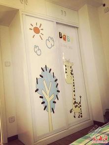 家庭迎门墙壁画-木工打的衣柜   淘宝购入实木床,质量超级好~   收纳功能超级强大的梳...