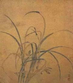 明 仇英(约1498~1552年)《双钩兰花图》纸本设色 34.7t39厘米 故宫...