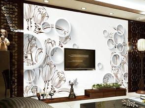 玉兰3D圆素描客厅背景墙