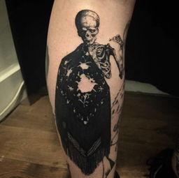 ▲ 骷髅人-6叔全身的黑灰纹身够帅,但这10款纹身比他玩得更疯