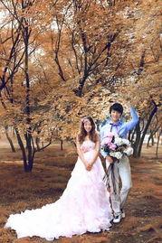 泡沫之秋婚纱照