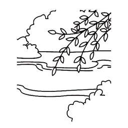 简单的柳树简笔画图片