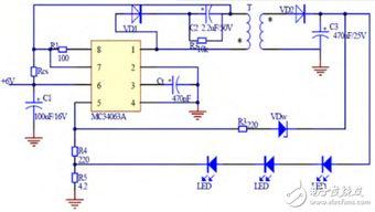 基于MC34063A的LED用恒流驱动电路的设计