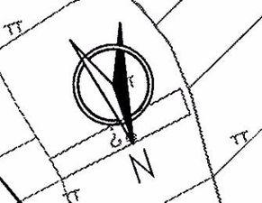 为什么指北针要画成这个样子,和一个圆圈里面有个简单窄扇形的有什...
