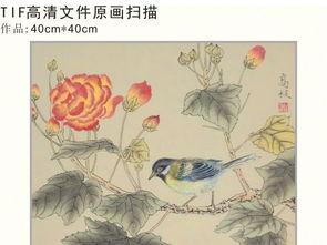 花鸟工笔画无框复古装饰画
