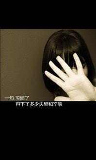 伤感文字图片 一句习惯了 容下了多少失望和辛酸 2