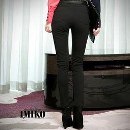 ...裤 黑 拼皮裤074 简单网www.J.cn