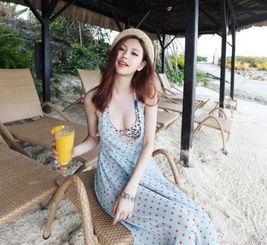 夏末阳光比基尼宝贝甜美可爱沙滩装