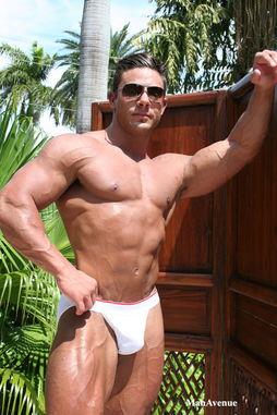 健美性感的欧美肌肉男