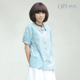 ...色短袖衬衣女Y072 简单网www.J.cn