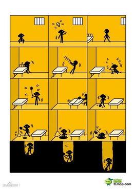 搞笑四格漫画 越狱