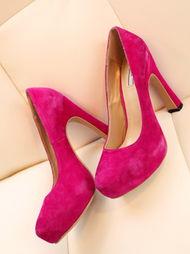 ...色牛皮 防水台高跟鞋 婚鞋